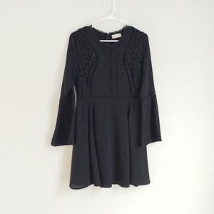 Altrd State Black Lace Fit Flare Dress M